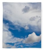 English Summer Sky Fleece Blanket
