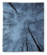 Epping Forest Trees Fleece Blanket