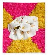 Flower Carpet Fleece Blanket