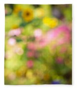 Flower Garden In Sunshine Fleece Blanket