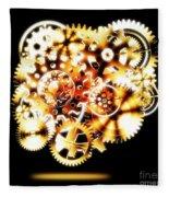 Gears Wheels Design  Fleece Blanket