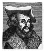 Girolamo Fracastoro, Italian Polymath Fleece Blanket