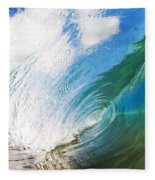 Glassy Breaking Wave Fleece Blanket