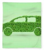 Green Car Fleece Blanket