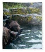 Grizzly Bear Or Brown Bear Fleece Blanket