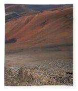 Haleakala Volcano Maui Hawaii Fleece Blanket