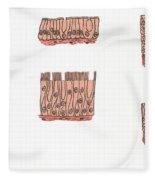 Illustration Of Epithelium Types Fleece Blanket