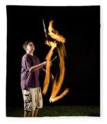 Juggling Fire Fleece Blanket