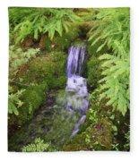 Mossy Waterfall Fleece Blanket