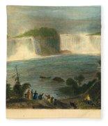 Niagara Falls, 1837 Fleece Blanket