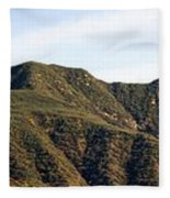 Ojai Valley With Snow Fleece Blanket