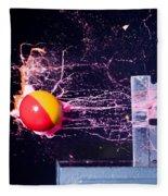 Paintball Shot At Razor Blade Fleece Blanket