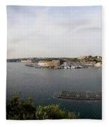 Panoramic Town 1 Fleece Blanket