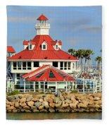 Parker's Lighthouse Restaurant Fleece Blanket