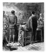 Pilgrims: Thanksgiving, 1621 Fleece Blanket