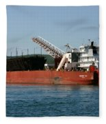 Presque Isle Ship Fleece Blanket