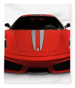 Red Ferrari F430 Scuderia Fleece Blanket