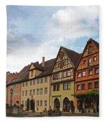 Rothenburg Medieval Old Town  Fleece Blanket