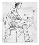 Sergei Rachmaninoff Fleece Blanket