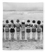 Silent Film Still: Beach Fleece Blanket