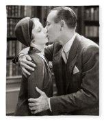 Silent Film Still: Kissing Fleece Blanket