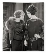 Silent Film Still: Women Fleece Blanket