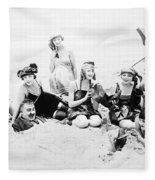 Silent Still: Beach Fleece Blanket