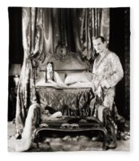 Silent Still: Bedroom Fleece Blanket
