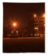 Sodium Vapor Lights On College Campus Fleece Blanket