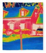 Thermogram Of A House Fleece Blanket