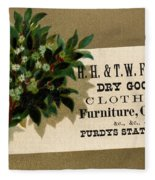 Trade Card, C1880 Fleece Blanket