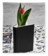 Tulip In A Book Fleece Blanket