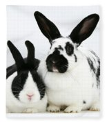 Two Rabbits Fleece Blanket