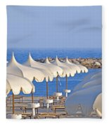 Umbrellas In The Sun Fleece Blanket