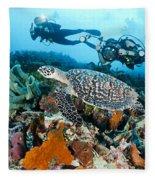Underwater Photography Fleece Blanket
