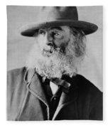Walt Whitman, American Poet Fleece Blanket