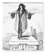 Womens Rights Cartoon Fleece Blanket
