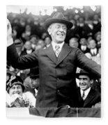 Woodrow Wilson (1856-1924) Fleece Blanket