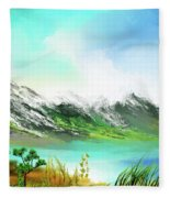 30 Minute Landscape Fleece Blanket