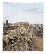 Scenes From The City Of York  Fleece Blanket