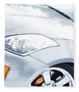 350z Car Front Close-up  Fleece Blanket