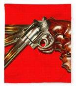 357 Magnum - Painterly - Red Fleece Blanket