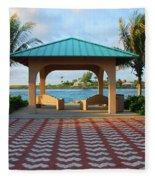 36- Palm Beach Inlet Fleece Blanket