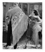 Silent Still: Man & Woman Fleece Blanket