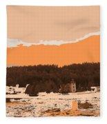 Norway  Landscape Fleece Blanket