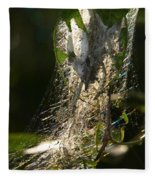 Bird-cherry Ermine Caterpillars Fleece Blanket