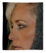 Blond Woman Fleece Blanket