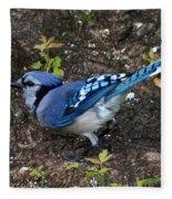 Blue-jay Fleece Blanket