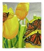 4 Butterflies Fleece Blanket