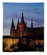 Cathedral Of St Vitus Fleece Blanket